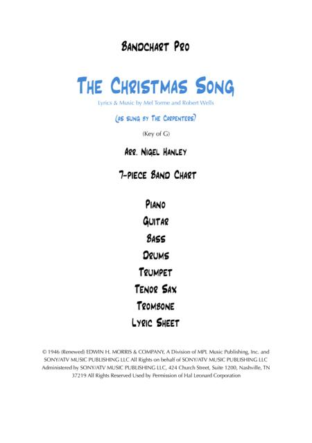 The Christmas Song 7pc band arrangement