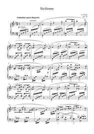 Faure - Sicilienne op.78 for piano solo
