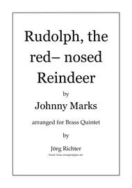 Rudolph, the red nosed Reindeer for Brass Quintet