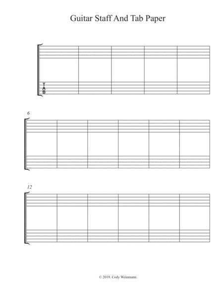 Guitar Tab Manuscript Paper    Book Only HL00293547
