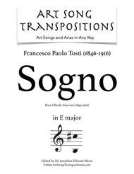 Sogno (transposed to E major)