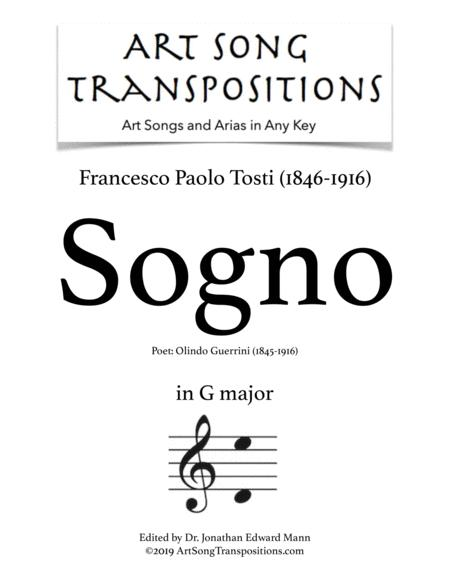Sogno (transposed to G major)