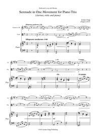 Serenade in One Movement for Piano Trio (clarinet, viola and piano)