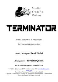 Terminator Theme for 5 trumpets & percussions