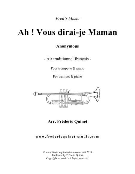 Ah! vous dirai-je Maman for trumpet & piano