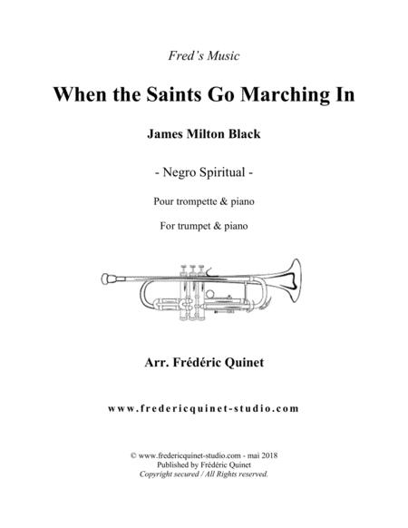 When The Saints Go Marching In for trumpet & piano