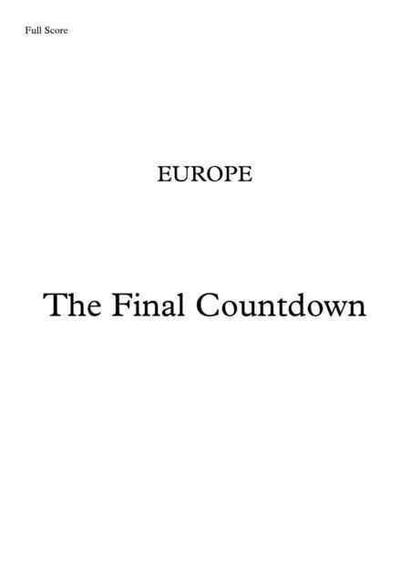 Final Countdown - Brass Quintet