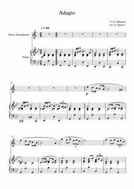 Adagio (In G Minor), Tomaso Giovanni Albinoni, For Tenor Saxophone & Piano