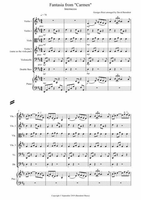 Intermezzo (Fantasia from Carmen) for String Orchestra