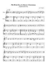 We Wish You A Merry Christmas, English Folk Song, For Oboe & Piano