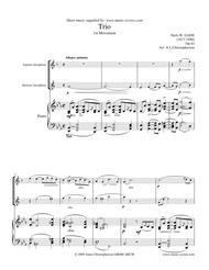 Gade - Allegro Animato - 1st movement from Piano Trio - Soprano Sax, Baritone Sax and Piano.