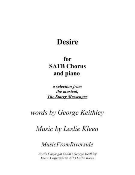 Desire for SATB chorus and piano