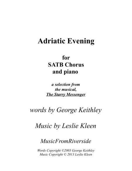 Adriatic Evening for SATB and piano