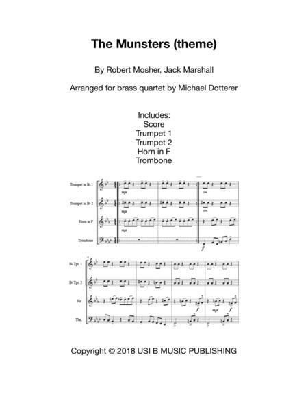 Theme From Munsters for Brass Quartet