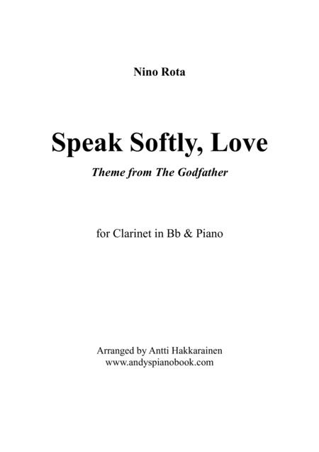 Speak Softly Love (Godfather Theme) - Clarinet & Piano