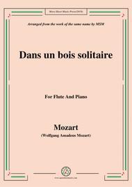 Mozart-Dans un bois solitaire,for Flute and Piano