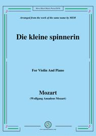 Mozart-Die kleine spinnerin,for Violin and Piano