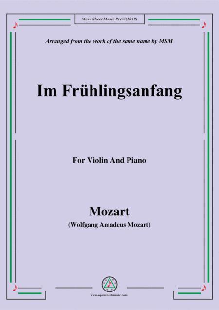 Mozart-Im frühlingsanfang,for Violin and Piano