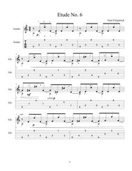 Etude No.6 For Guitar by Neal Fitzpatrick-Tablature Edition