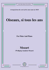 Mozart-Oiseaux,si tous les ans,for Flute and Piano