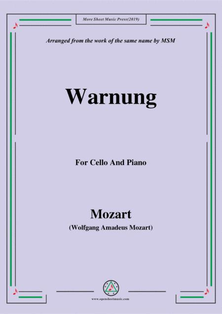 Mozart-Warnung,for Cello and Piano