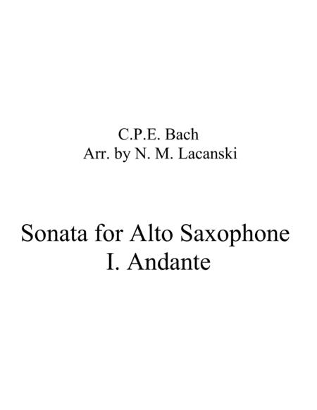 Sonata for Alto Saxophone in A Minor I. Andante