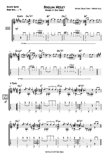 Brazilian Medley - Girl From Ipanema, Summer Samba, One Note Samba - Dave Niskin - Solo Guitar Arrangement