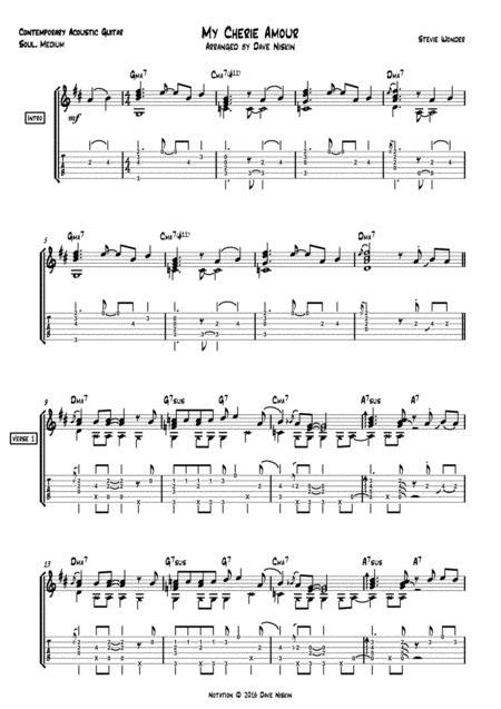 My Cherie Amour - Dave Niskin - Solo Guitar Arrangement