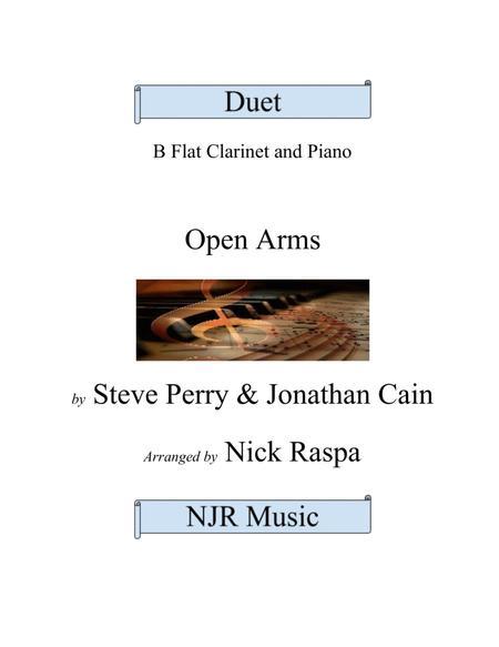 Open Arms (B Flat Clarinet & Piano) intermediate