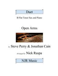 Open Arms (B Flat Tenor Sax & Piano) intermediate