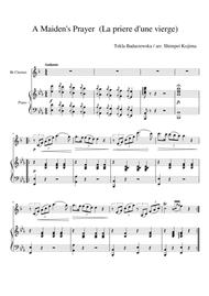 A Maiden's Prayer (La priere d'une vierge) for Bb clarinet and piano