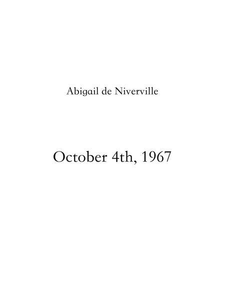 October 4th, 1967 (A Mini Opera)