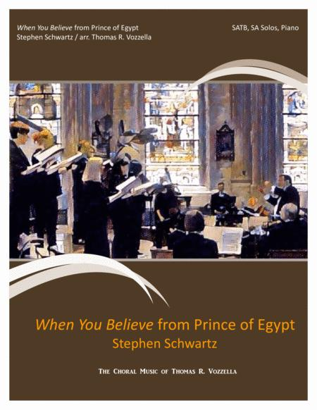 When You Believe from Prince of Egypt (SATB)