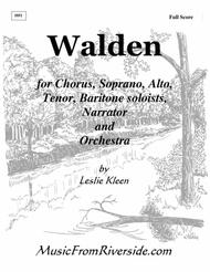 WALDEN - Full Orchestral Score including all musical numbers and readings