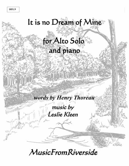 It is no Dream of Mine for Alto solo and Piano