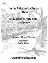In the Midst of a Gentle Rain for Soprano or Alto Solo and Piano