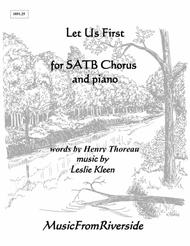 Let Us First for SATB Chorus and Piano
