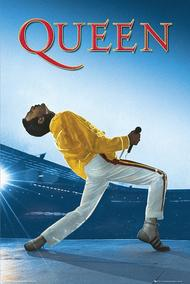 Queen: Freddie Live at Wembley Stadium - Wall Poster