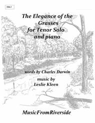 The Elegance of the Grasses for Tenor solo and piano