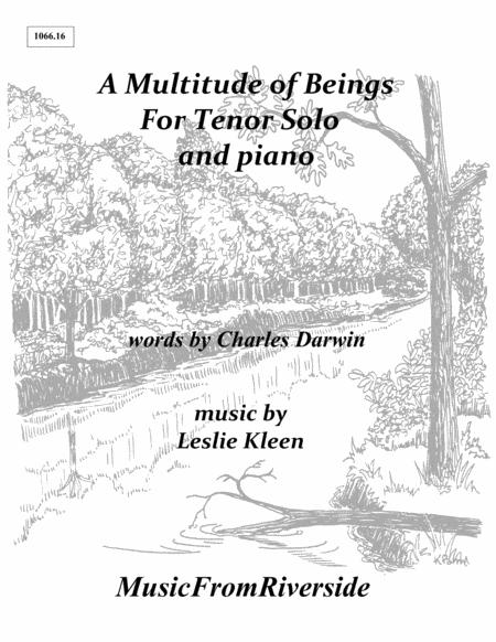 A Multitude of Beings for Tenor solo and piano