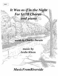 It Was as if in the Night for SATB Chorus and piano