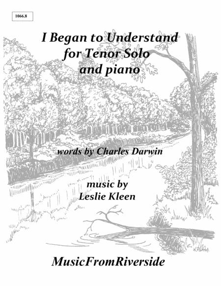 I Began to Understand for Tenor and Piano