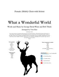 What A Wonderful World - Female (SSAA) Choir with Soloist