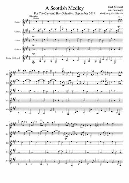 A Scottish Medley for Guitar Ensemble
