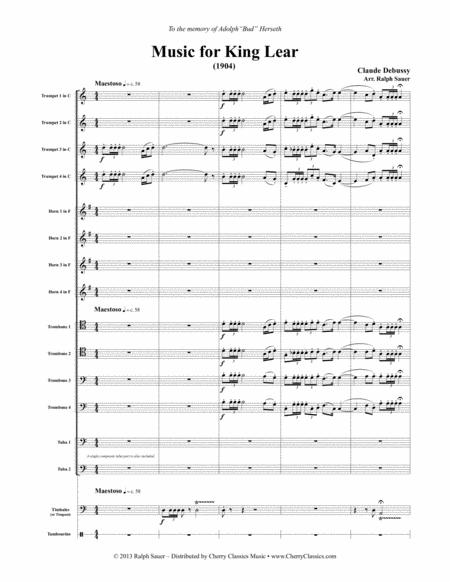Music for King Lear for Large Brass Ensemble