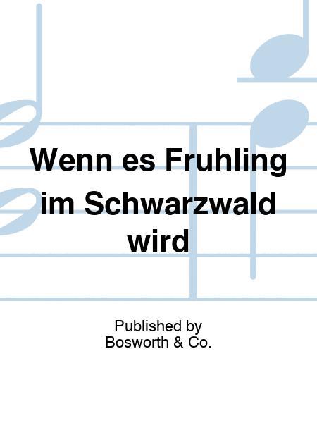 Wenn es Fruhling im Schwarzwald wird