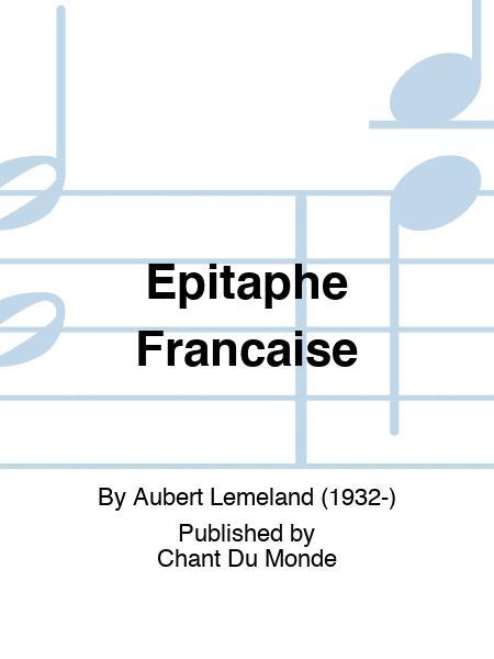 Epitaphe Francaise