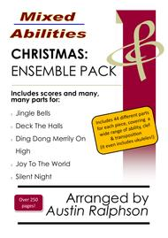 COMPLETE Christmas ensemble pack (5 pieces) - Mixed Abilities Ensembles for Classroom and Instrumental Groups