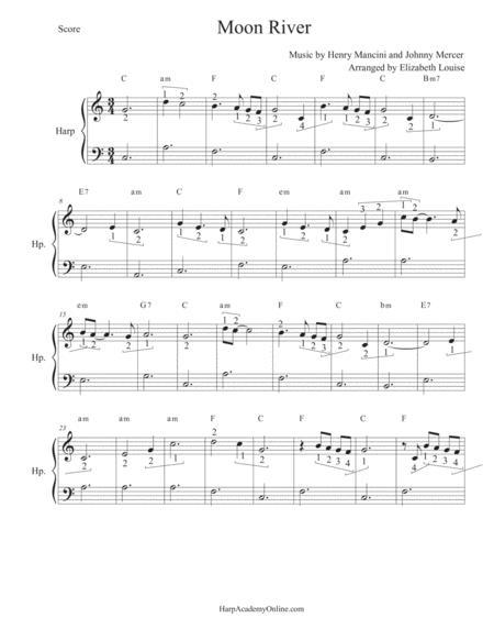 Moon River (beginner harp)