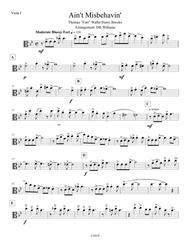 Ain't Misbehavin' (Viola 1)